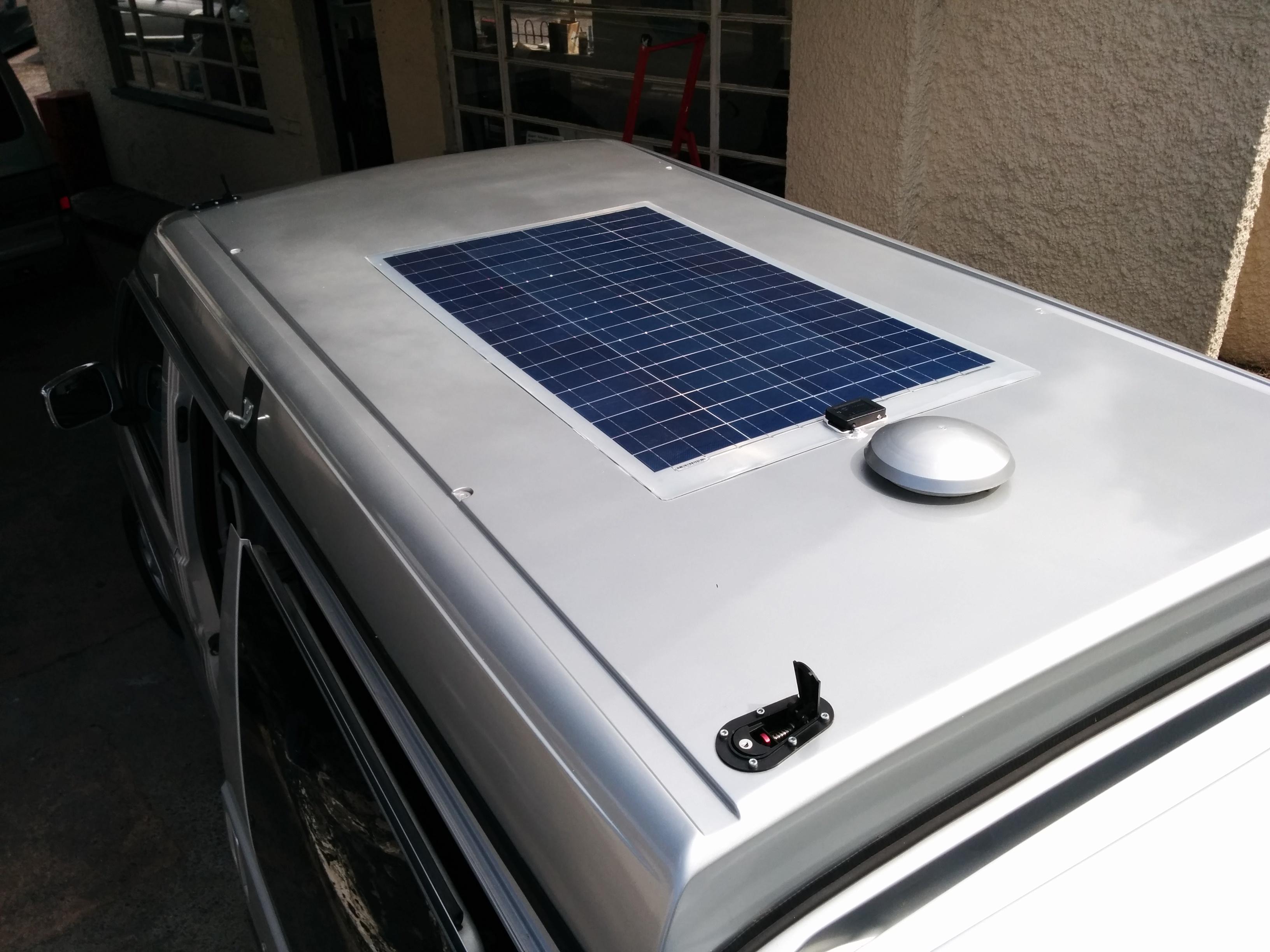 VW T4 T5 T6 Stick-on Solar Panel Kit